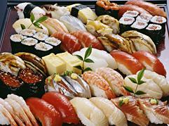 新鮮なネタの寿司